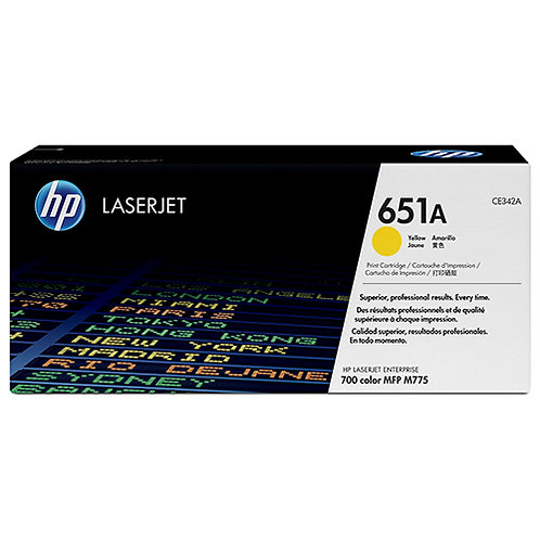 HP 651A Toner Cartridge Genuine, Yellow