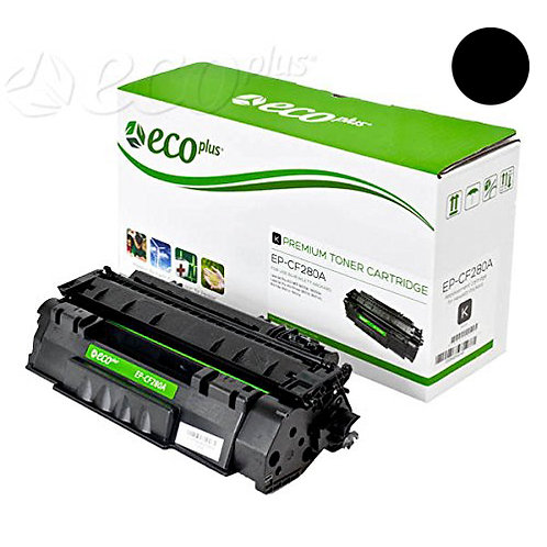 HP 80A Toner Cartridge Remanufactured, Black