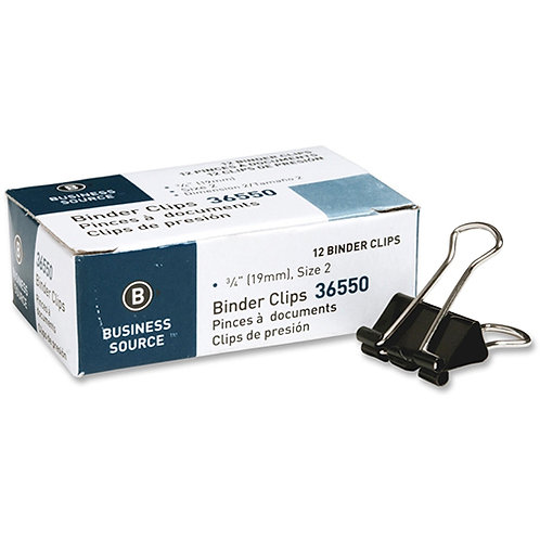 """Business Source Binder Clip Small - 0.8"""" Width - 0.38"""" Size Capacity - 1 Pack"""