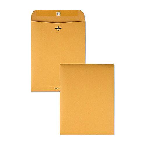"Quality Park Extra Hvy-Duty Kraft Clasp Envelopes, 8.75"" x 11.5"", Brown Kraft"