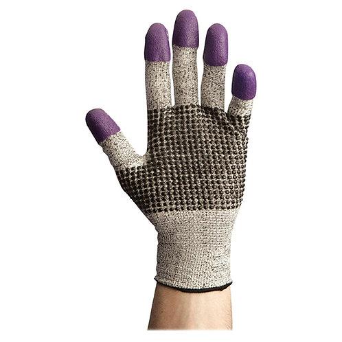 Jackson Safety G60 Purple Nitrile Gloves, Medium/Size 8, Black/White, Pair