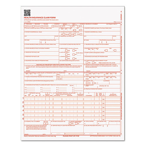 TOPS CMS-1500 Health Insurance Forms