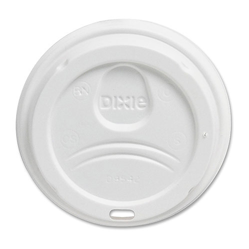 Dixie White Dome Lid Fits 10-16oz Perfectouch Cups, 12-20oz Hot Cups, 50/Pack