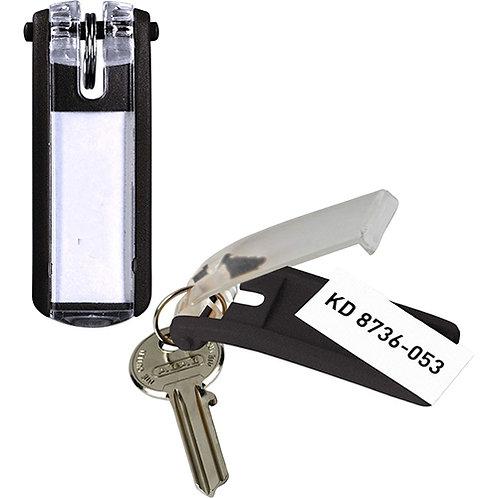 DURABLE® Key Tag - Plastic - 6 / Pack - Black