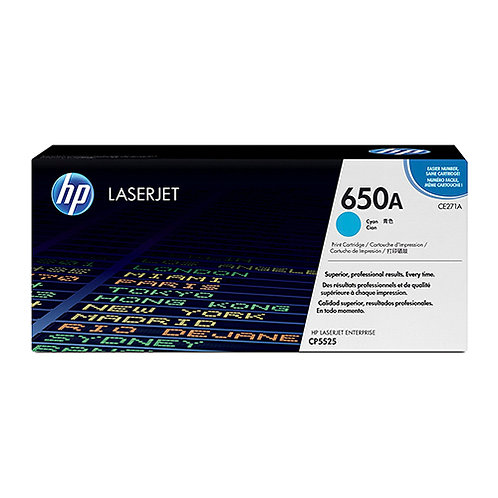 HP 650A Toner Cartridge Genuine, Cyan