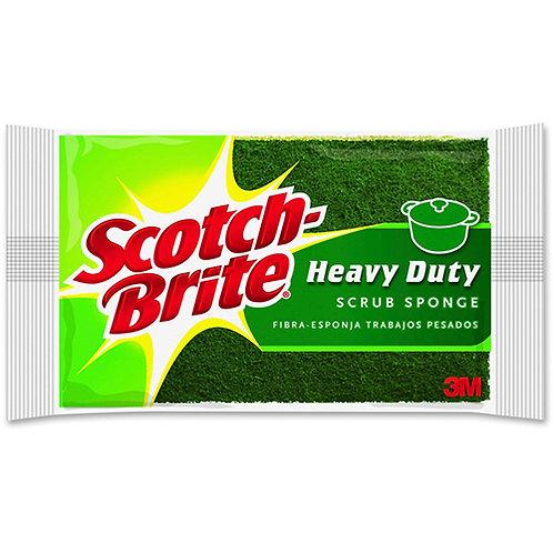 """Scotch-Brite Scrub Sponge 2.8"""" Height x 4.5"""" Width - 6/Pack - Green"""