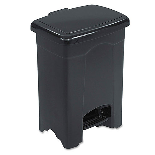 "Safco Plastic Step-on Receptacle - 4 gal Capacity - 15""x12""x10"""