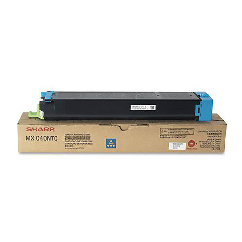 Sharp MX-C40NTC Toner Cartridge Genuine, Cyan