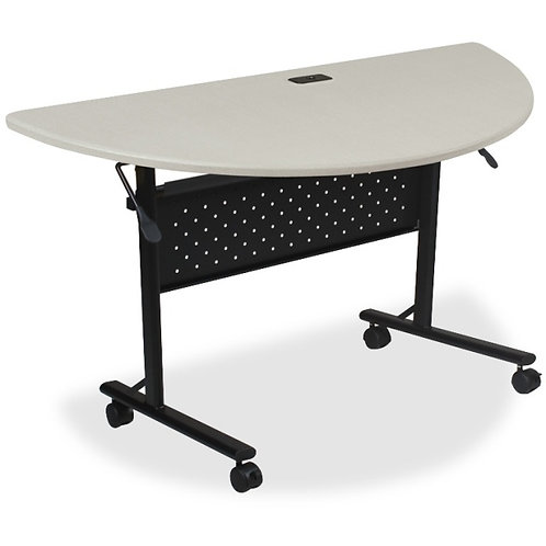 Lorell Flipper Training Table Half-round Top