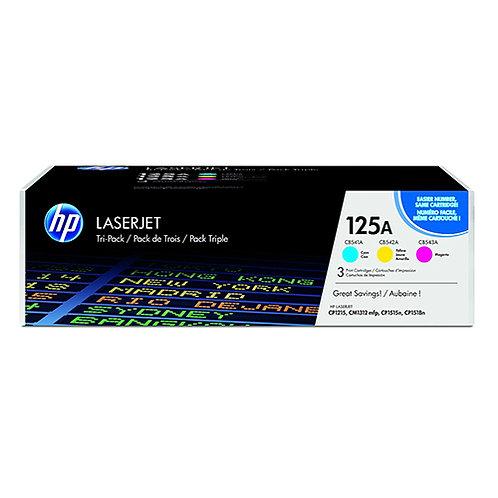 HP 125A Toner Cartridge Genuine, Color Combo C,M,Y