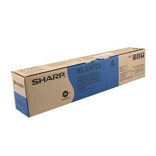 Sharp MX-70NTCA Toner Cartridge Genuine, Cyan