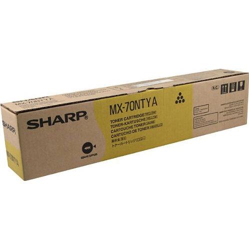 Sharp MX-70NTYA Toner Cartridge Genuine, Yellow