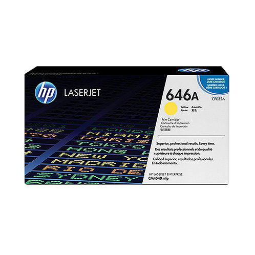HP 646A Toner Cartridge Genuine, Yellow