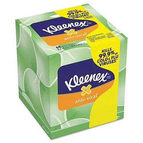 KCC25836 - Kleenex Boutique Anti-viral Facial Tissue, 3ply, Pop-up Box