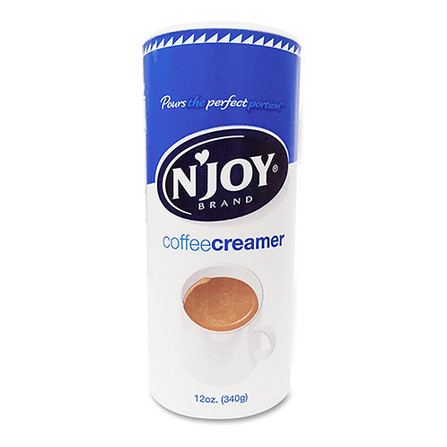 N'JOY Powdered Coffee Creamer, Nondairy, 12 oz Canister
