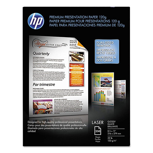 HP Glossy Color Laser Presentation Paper - 8 1/2 x 11 - Pack of 250