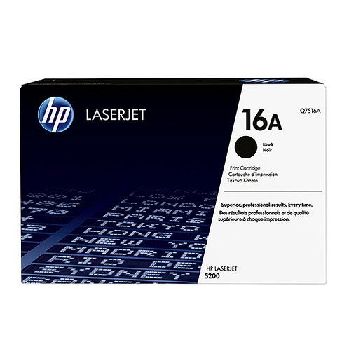 HP 16A Toner Cartridge Genuine, Black