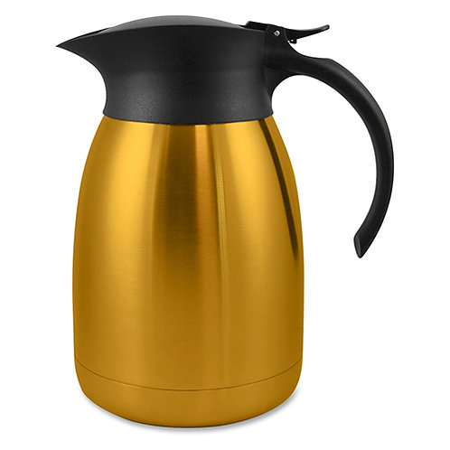 Genuine Joe Classic Vacuum Carafe 1.3 Quart (1.2 L) - Stainless Steel, Gold
