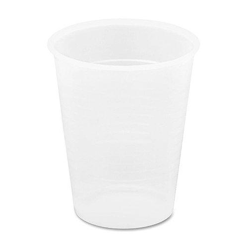 Genuine Joe Translucent Plastic Beverage Cup, 9-OZ Capacity, Clear 2400/Carton
