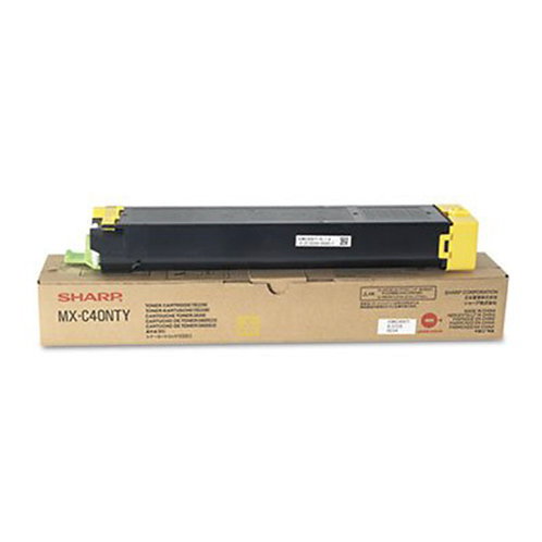 Sharp MX-C40NTY Toner Cartridge Genuine,Yellow
