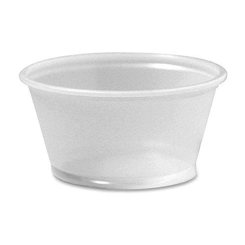Dixie Foods Souffle Cups 2 oz - 2400 / Carton - Translucent - Sauce