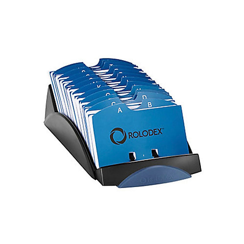 Rolodex VIP Card File 500 Address Card A-Z - Black