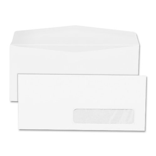 Quality Park Right-Window Envelopes, #10, White, 500/Box