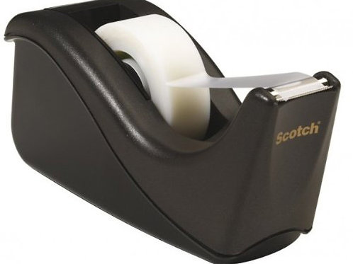 Scotch Value Desktop Tape Dispenser, 1 Inch Core, Two Tone Black