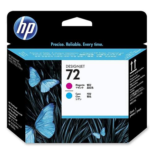 HP 72 Ink Cartridge, Cyan and Magenta