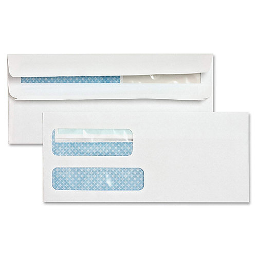 Sparco Double Window Envelope, #9, 500/Box