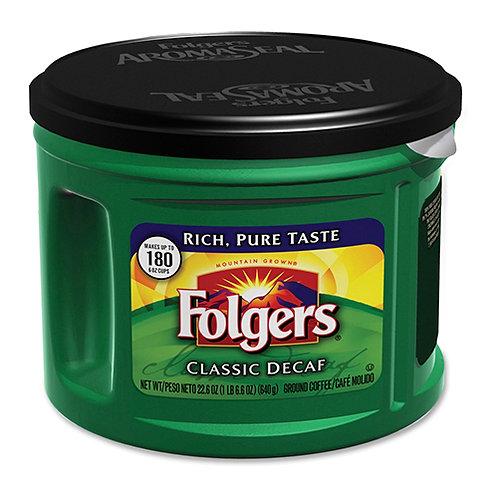 Folgers Custom Aroma Roast Coffee Decaffeinated - 22.6 OZ
