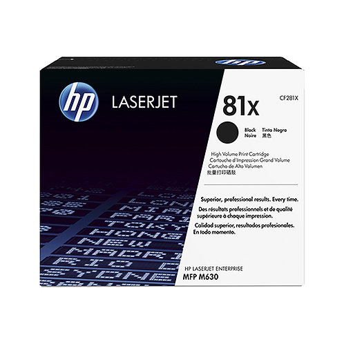 HP 81X Toner Cartridge Genuine, Black