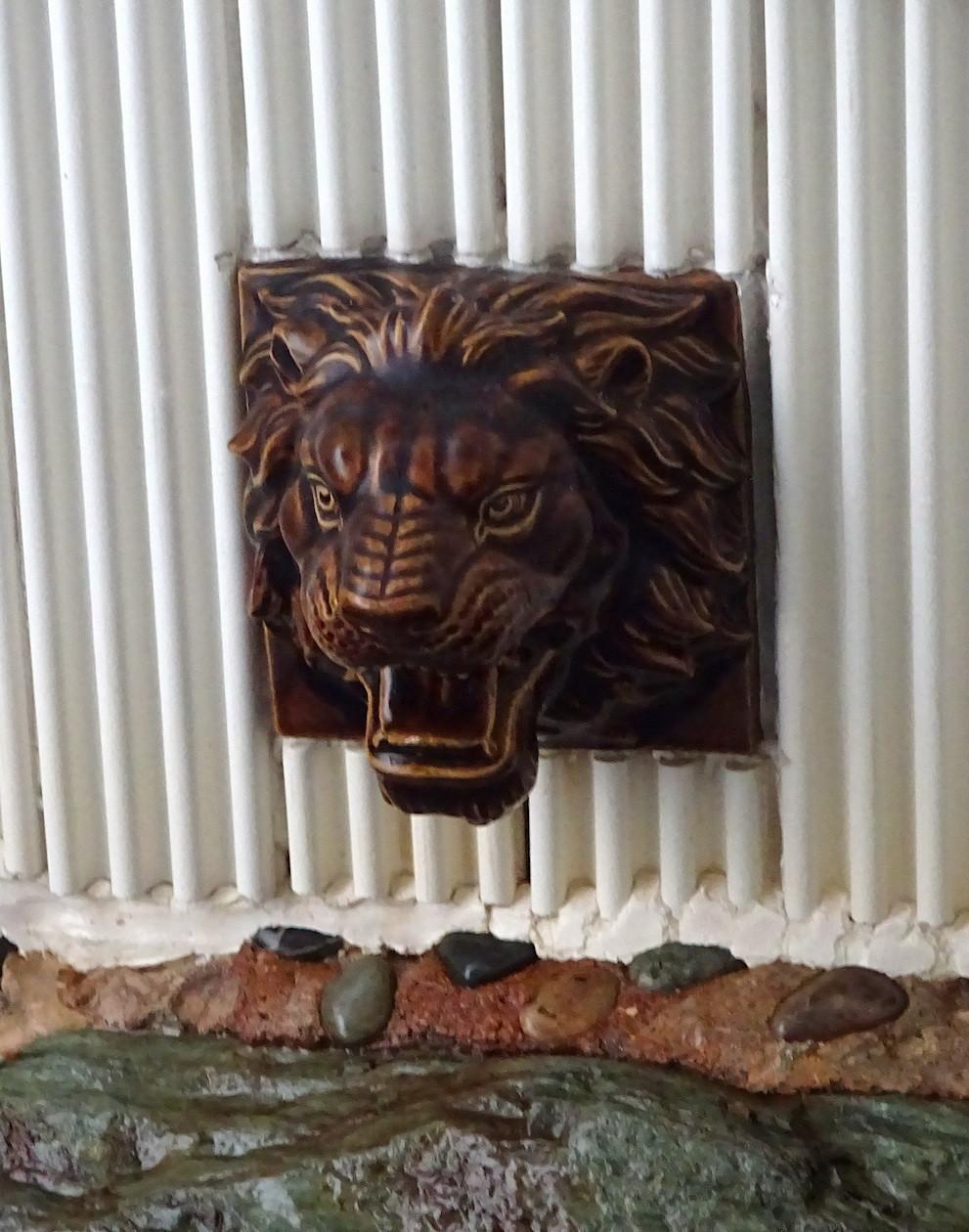 水風呂のライオン