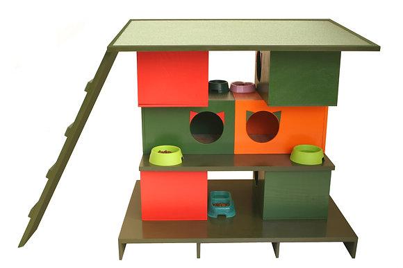 Apartman-6 Daireli Kedi Evi Kompleksi