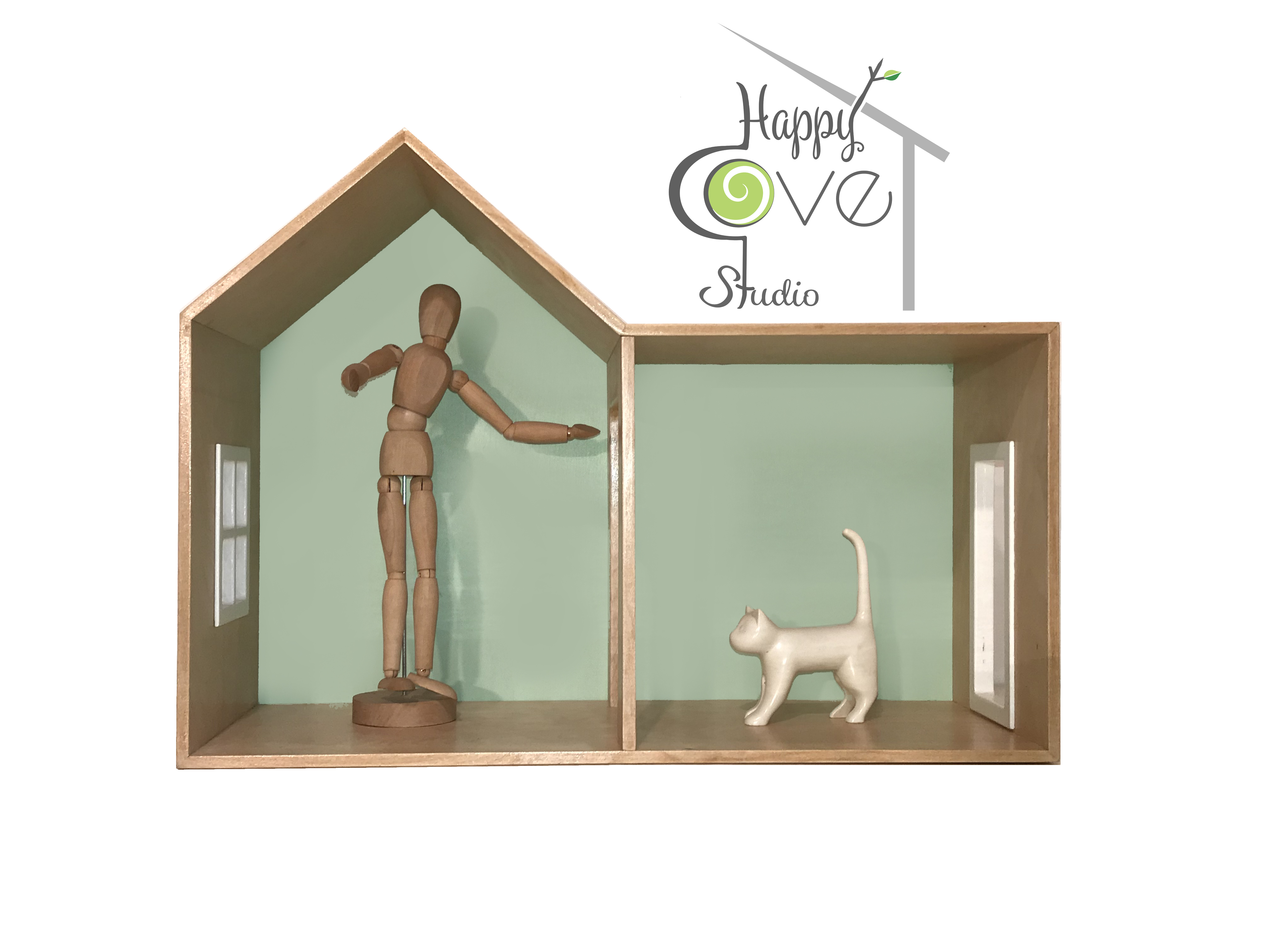 CHALET | Wooden Shelf / Play House-M