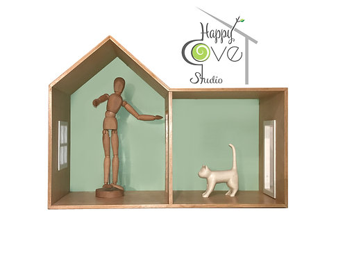 CHALET | Wooden Shelf / Play House in Mint | Ahşap Raf/ Oyun Evi