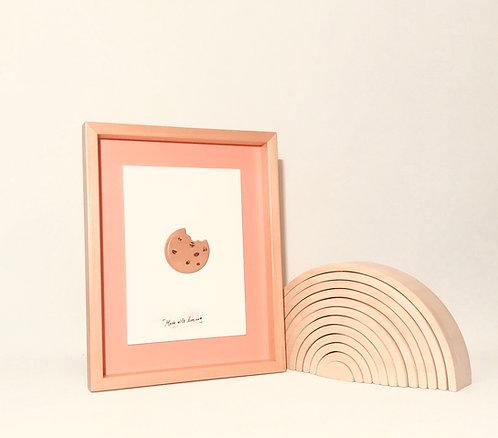 Cookie Love | 3D Wall Art | Ahşap 3D Çerçeve