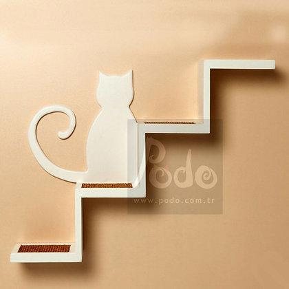 Pisi Kedi Merdiveni-Büyük Boy