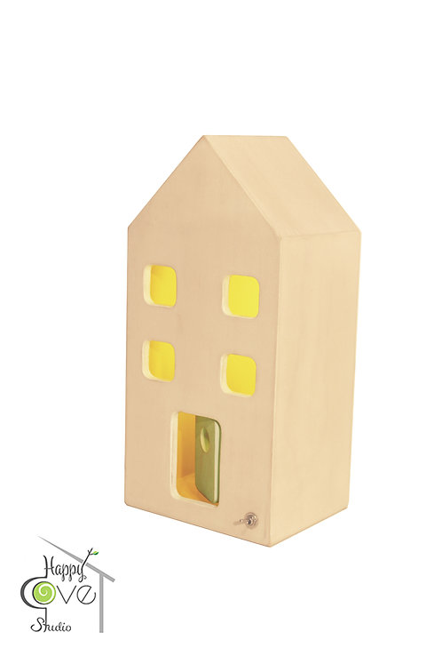 City Lights Mini | Wooden Lamp with White Finish