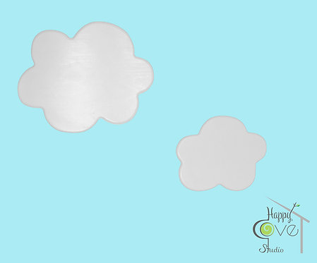 White Clouds | Wooden Wall Decorations | Beyaz Bulut | Ahşap Duvar Aksesuarı