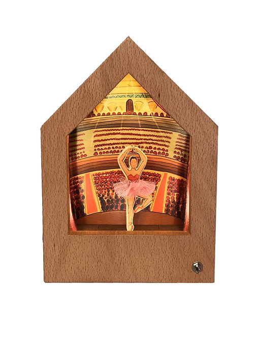 Ballerina   Wooden Story Lamp   Ahşap Hikayeli Lamba