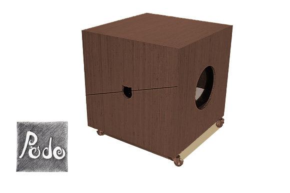 ZAR Kedi Tuvalet Kabini- Wenge