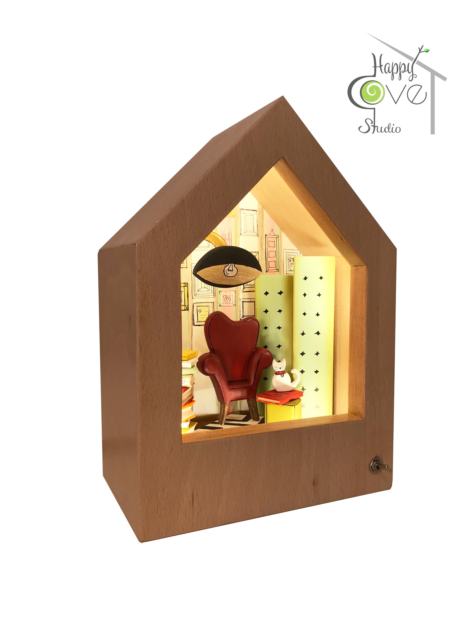 Cosy Cove | Wooden Story Lamp
