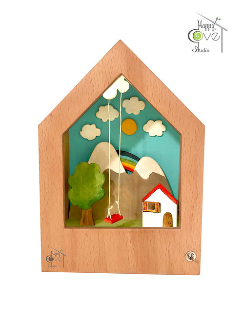 Fairy Tale | Wooden Story Lamp | Masal | Hikayeli Ahşap Lamba