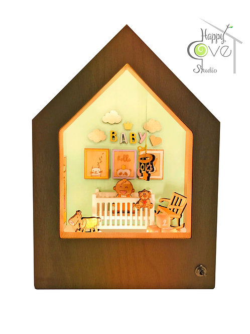 Baby Boom | Wooden Story Lamp