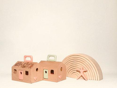 Porta-Casa   Mini Portable Doll House and Purse- Patterned
