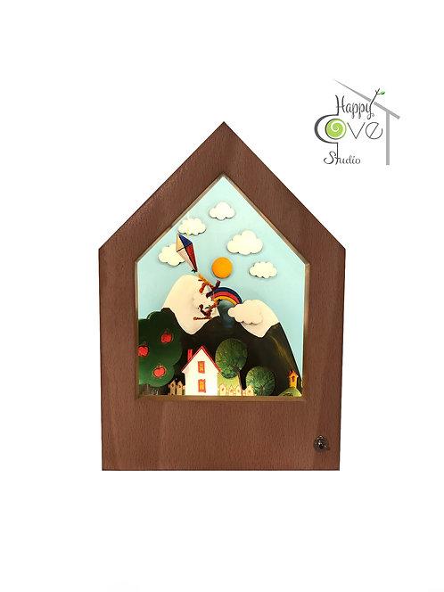 Fairy Land | Wooden Story Lamp |Hikayeli Ahşap Lamba