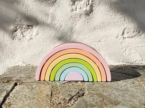 Pastel Wooden Rainbow Stacker Toy