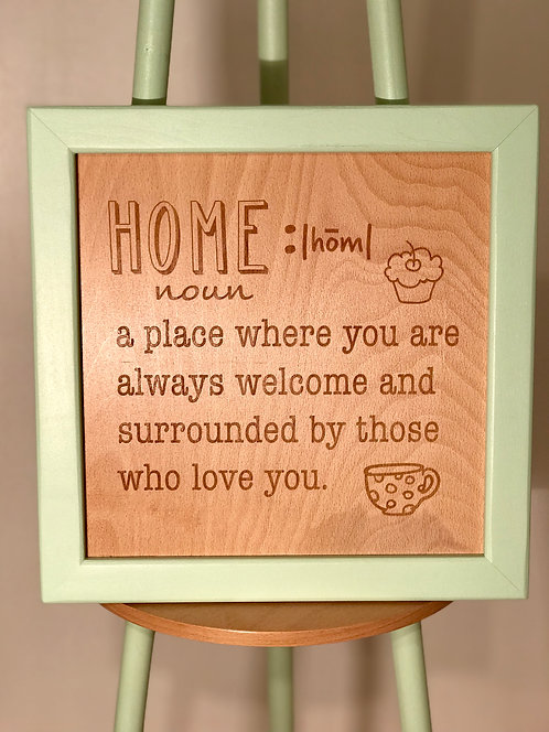 Dictionary Series | Wooden Wall Frame- Home