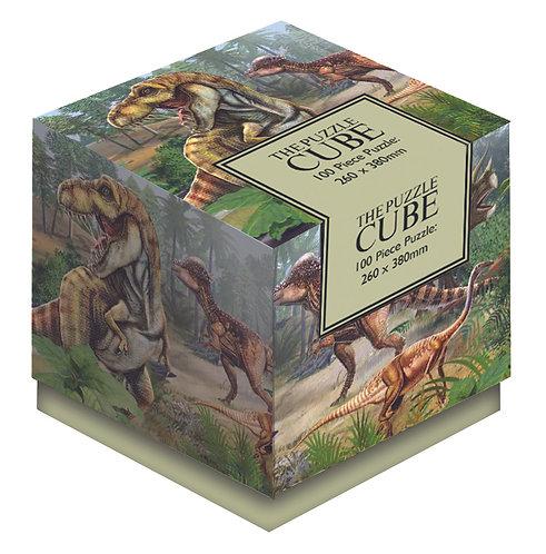 Dinosaurs - 100 Piece Jigsaw Puzzle Cube